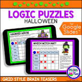 Halloween Logic Puzzles with Grids   for Google Classroom