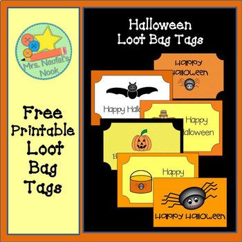 Halloween Loot Bag Tags - Freebie