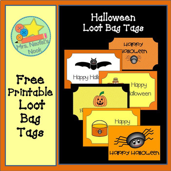Halloween Loot Bag Tags