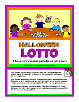Halloween Lotto Game Fun