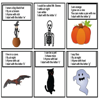 Halloween Activities, Lotto: Vocabulary, Riddles, Matching Game, Fall