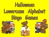 Halloween Lowercase Alphabet Bingo Games-Preschool Kindergarten