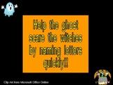 Halloween Lowercase Letter Alphabet Fluency PowerPoint