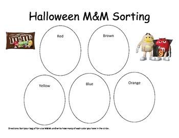 Halloween M&M sorting