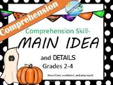 Halloween mini-lesson on MAIN IDEA - comprehension skill a
