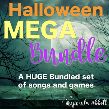 Halloween MEGA Music Set of Songs and Games