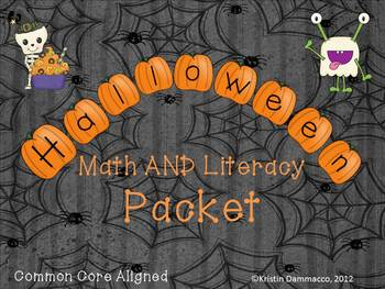 Halloween MEGA pack with Literacy, Math, Science and Vocabulary Word Wall