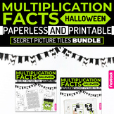 Halloween MULTIPLICATION FACTS Paperless + Printable Secret Picture Tiles SET
