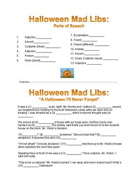 Halloween Mab Libs (Freebie!)