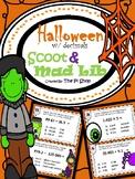 Halloween Mad Lib & Scoot with Decimals {NO PREP}