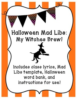 "Halloween Mad Libs ""My Witches Brew!"""