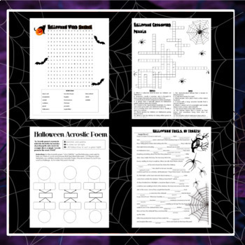 Elementary Christmas Activities: Crossword Puzzle / Word Search K, 1st, 2nd, 3rd