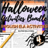 Halloween Activities: Acrostic Poem, Crossword Puzzle, Wor