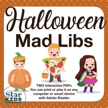 Halloween Mad Libs *INTERACTIVE* (Google Slides & printables)