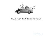 Halloween Mad Math Minutes!