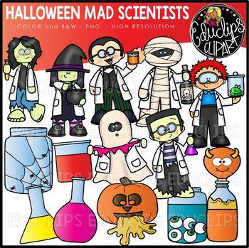 Halloween Mad Scientists Clip Art Set {Educlips Clipart}