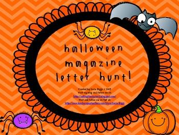 Halloween Magazine Letter Hunt