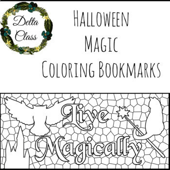 Halloween Magic Coloring Bookmarks