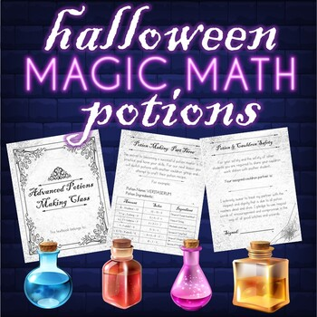 Halloween Magic Math Potions: A Variables Activity