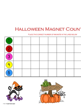Halloween Magnet Counting Sheets