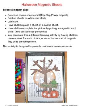 Halloween Magnet Sheets