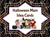 Halloween Main Idea Cards Aligned to Common Core