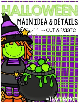 Halloween Main Idea & Detail Cut & Paste