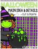 Halloween Main Idea & Detail Cut & Paste