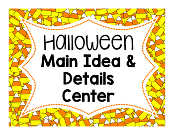 Halloween Main Idea & Details Center