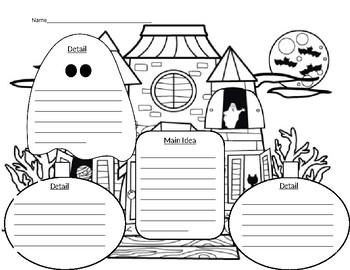 Halloween Main Idea Graphic Organizer