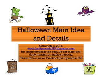 Halloween Main Idea and Details