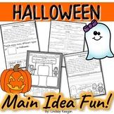 Halloween - Main Idea and Details Activities