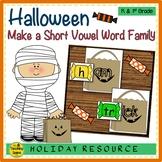 Halloween Make A Short Vowel Word Family Center