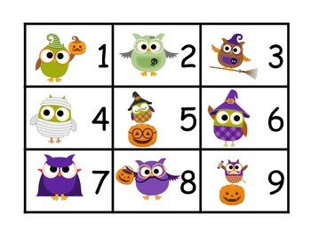 Halloween Making 10 Memory Match Center Game