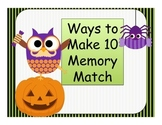 Halloween Making 10 Memory Match Center Game