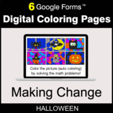 Halloween: Making Change - Digital Coloring Pages | Google Forms