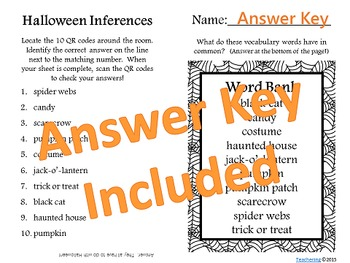 Halloween Task Cards with QR Codes {Practice Making Inferences}
