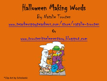 Halloween Making Words