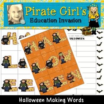 Halloween Making Words Activity