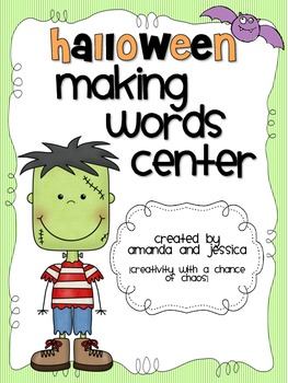 Halloween Making Words Center