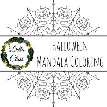 Halloween Mandala Coloring Page