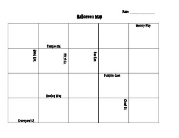 Halloween Map Skills Game Board
