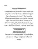 Halloween Marshmallow Building Project