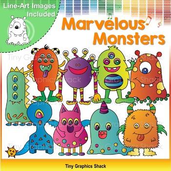 Halloween Marvelous Monsters Clip Art