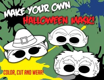 Halloween Mask Craftivity