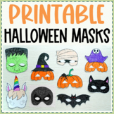 Halloween Mask Pack - Printable coloring activity