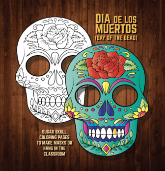 halloween masks coloring pages sugar skulls dia de los muertos skeleton