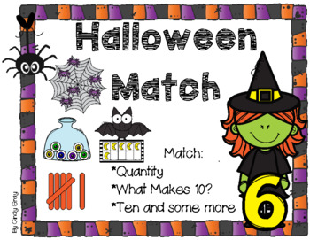 Halloween Match ~ Cardinality, What Makes Ten? and Ten and Some More