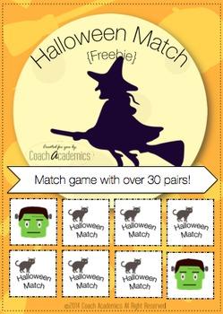 Halloween Match Game {Freebie}