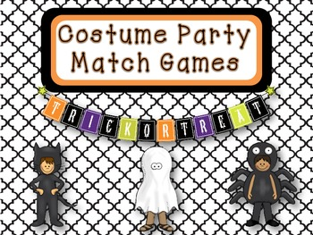 Halloween Match Games ELA & Math